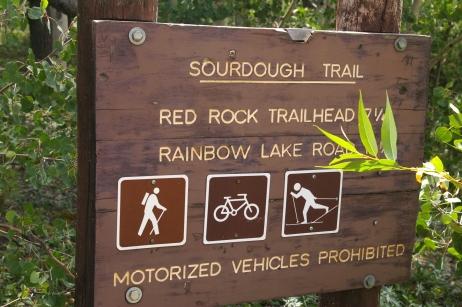 Trailhead signage
