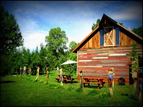 The beautiful barn at Ya-Ya Farms.